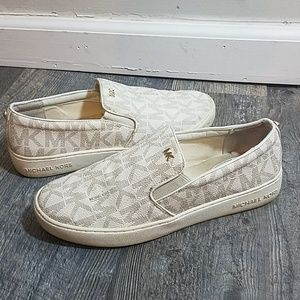 MK Leather Signature MK Slip on Sneakers